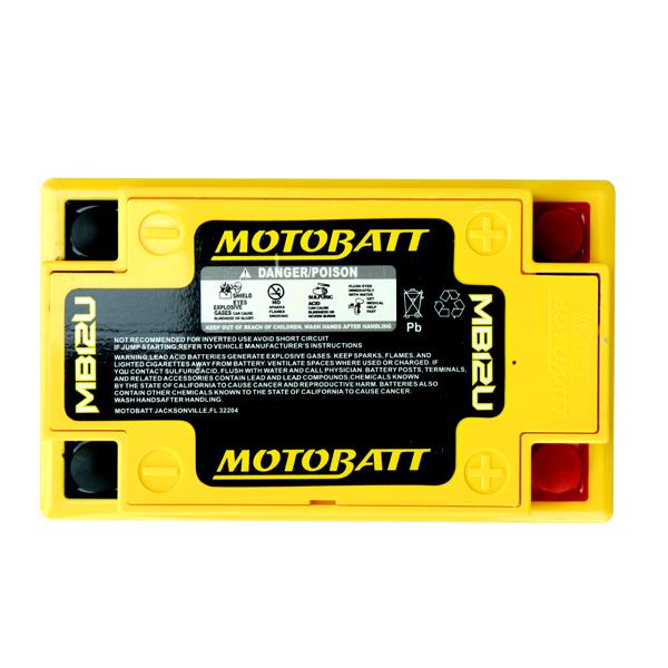 【MOTOBATT】AGM 閥控式強效電池- MB12U - 「Webike-摩托百貨」