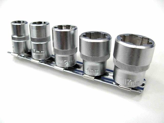 【Webike Garage】M8、M10、M12、M14、M17 潰型螺絲套筒