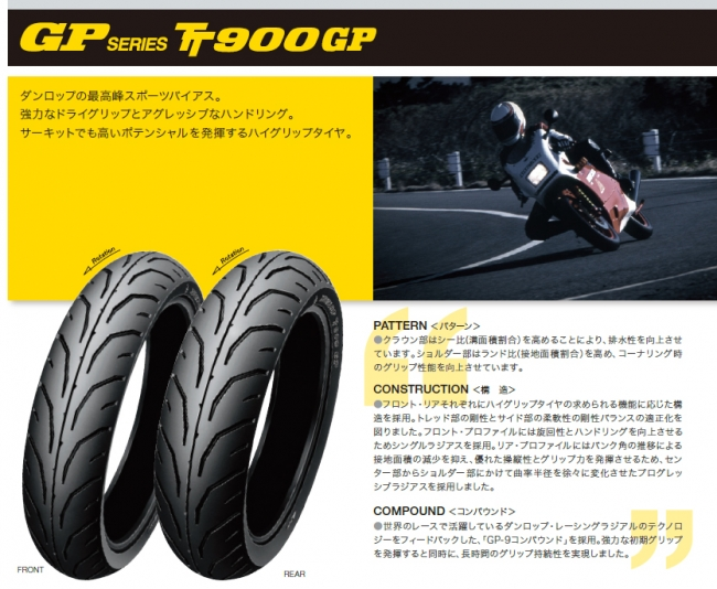 【DUNLOP 登錄普】TT900GP【90/90-18 MC 51H TL】輪胎