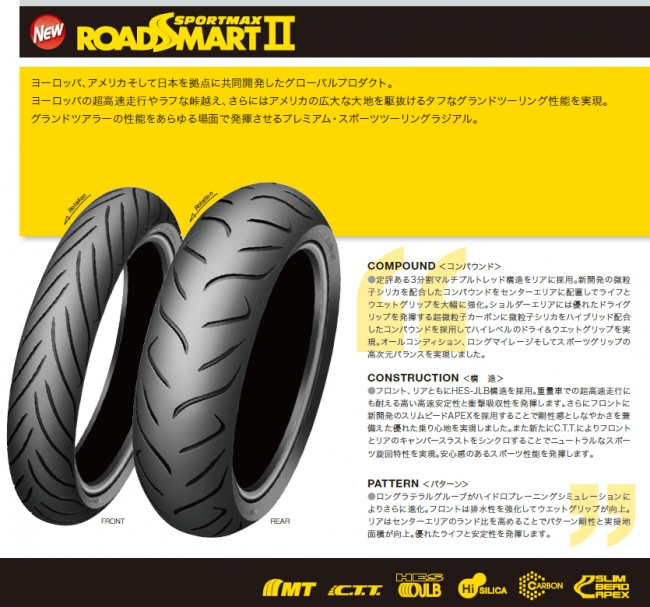 【DUNLOP 登錄普】SPORTMAX ROADSMART II【190/50ZR17 MC(73W) MT3】輪胎