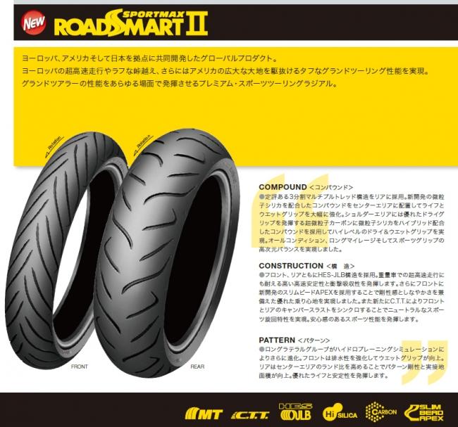 【DUNLOP 登錄普】SPORTMAX ROADSMART II【140/70R18 MC67V】輪胎