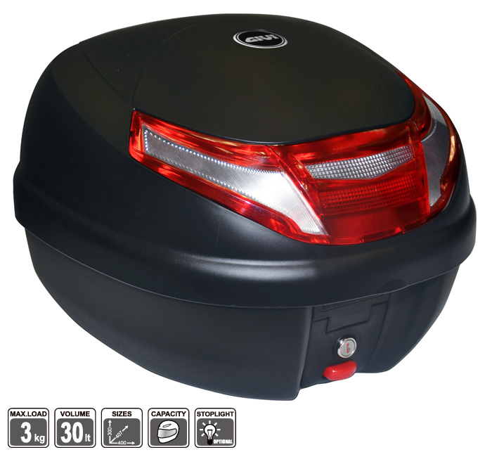 E30RN-S3 後箱 (平光黑)附雙LED燈
