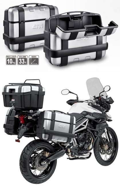 【GIVI】TRK33BPACK2 仿鋁後箱  黑 (類似BMW款)