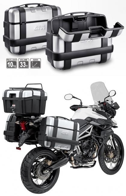 【GIVI】TRK33PACK2V 仿鋁後箱  銀 (類似BMW款)