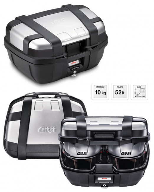 【GIVI】TRK52NV 仿鋁後箱  銀 (類似BMW款) - 「Webike-摩托百貨」