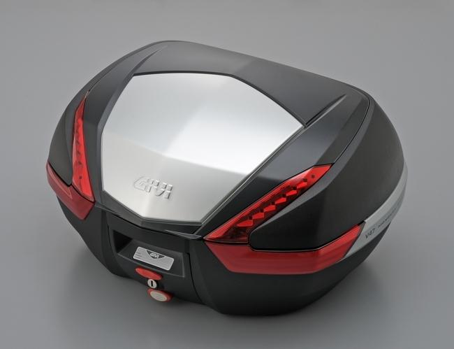 【GIVI】V47NLUX 後箱 (平光黑/鋁片)附燈/附搖控(紅反光片)