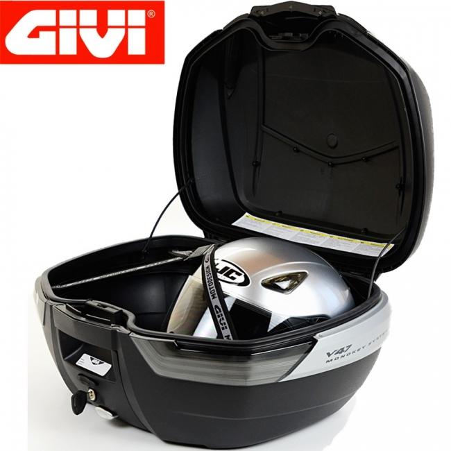 【GIVI】V47NNT 後箱 (平光黑/卡夢紋)無燈(燻黑反光片)