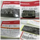 【HONDA(本田)】GROM (MSX 125) 日規車身說明貼紙 套組 一套四張