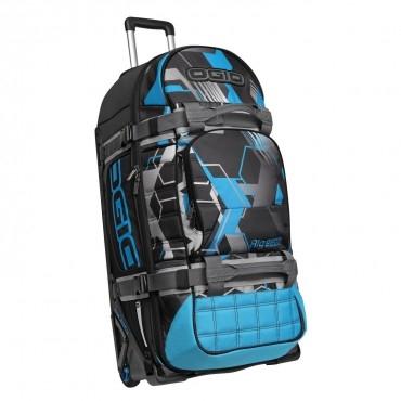 RIG 9800 鐵人重機行李箱-藍銀紋
