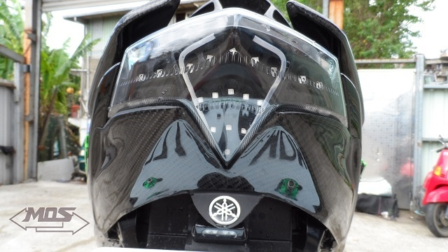 YAMAHA S-MAX 155 尾燈下蓋 貼片 (碳纖維)