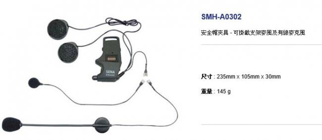 【SENA】安全帽夾具-可掛載支架麥風及有線麥克風(SMH10用)