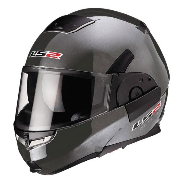 LS2可掀式安全帽 FF393 (鐵灰)