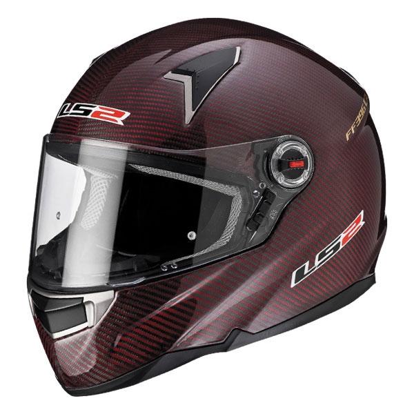 LS2碳纖維 全罩式安全帽 FF396-16 (紅)