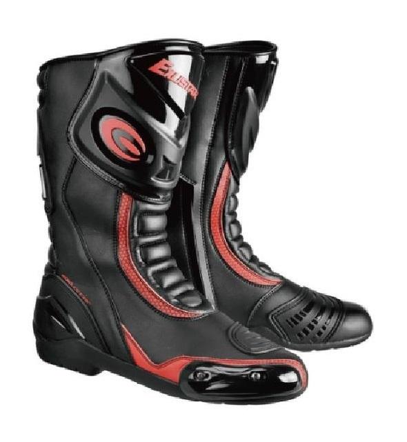 【EXUSTAR】長筒車靴 E-SBR2101 黑紅