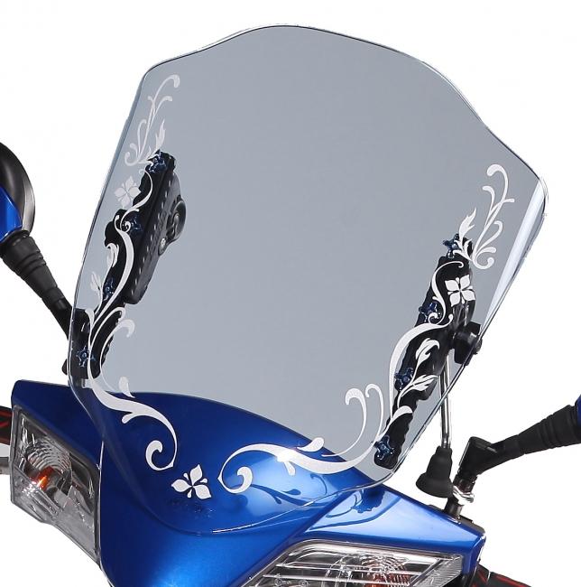 炫之風可調式檔風鏡 A 款(藍色貼花)