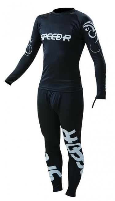 IC-02 快乾涼感兩截式滑衣 (黑銀)