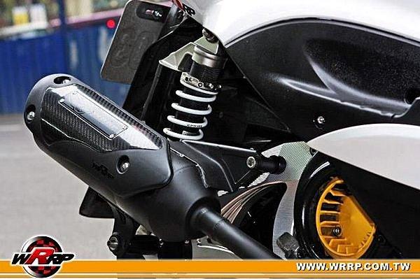 白鐵低調黑式樣全段排氣管 勁戰,BWS,RC150,CUXI,RSZ