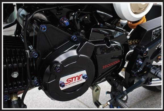 SMR CNC 電盤外蓋&前齒盤蓋 (HONDA MSX-125/GROM-125用) (黑色)