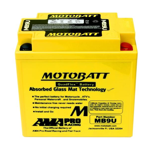 AGM 閥控式強效電池-MB9U