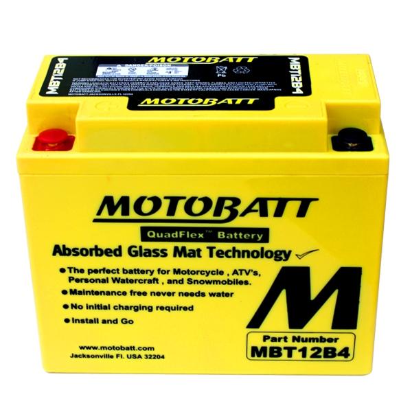 【MOTOBATT】AGM 閥控式強效電池-MBT12B4 - 「Webike-摩托百貨」