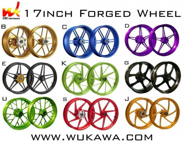 【WUKAWA】鋁合金鍛造輪圈組  B款 - 「Webike-摩托百貨」