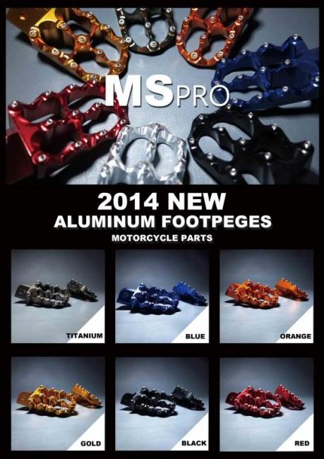 【MS PRO】MS PRO series DUCATI HYPER MOTARD 專用 CNC 前腳踏