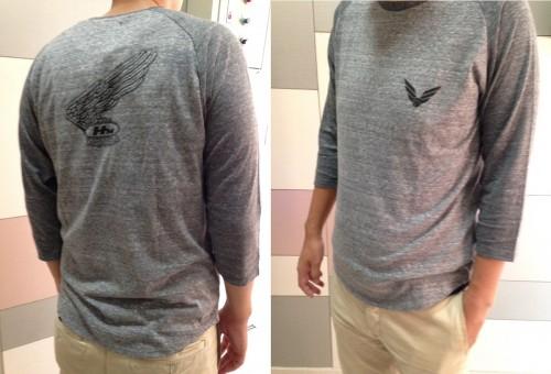 Raglan7分袖T恤:C HONDA