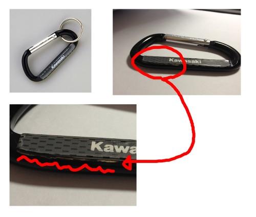 Kawasaki 扣環鑰匙圈 KAWASAKI