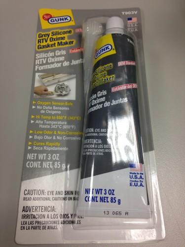 灰色矽質耐高溫墊片膠 GUNK