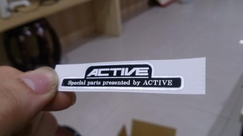 機油節溫器用 金屬貼紙 ACTIVE