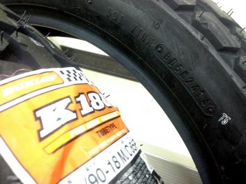 K180 【120/90-18 MC 65P WT】 輪胎(FTR223正廠配置前後輪)