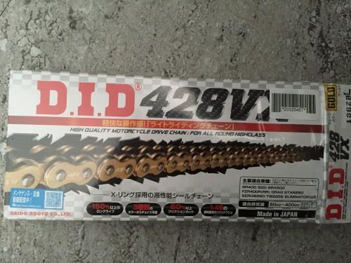 VX系列 428VX 金色鏈條 (圖片統一示意圖商品依照規格說明) DID