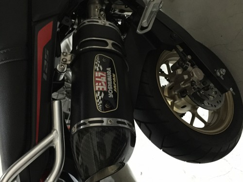 R-77S CYCLONE EXPORT SPEC 全段排氣管(碳纖維尾蓋)(機械加工彎管) YOSHIMURA
