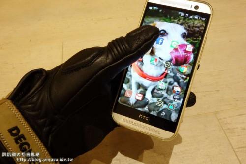 智慧型手機對應 3季節皮革手套 DEGNER