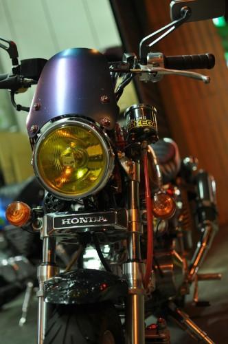819 頭燈總成 (黃色燈殼) MARCHAL