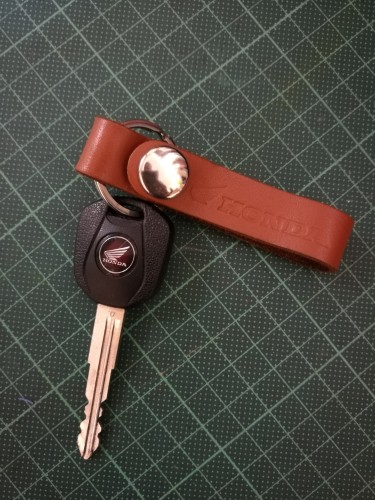 皮革吊環式鑰匙圈 HONDA RIDING GEAR