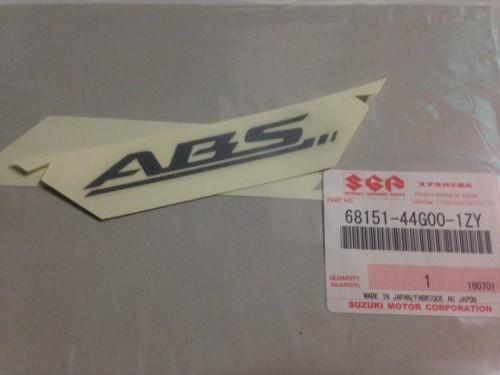 SUZUKI 原廠 ABS前輪土除貼紙