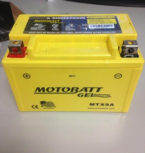 GEL 膠體密封長效型機車啟動電池-MTX9 MOTOBATT