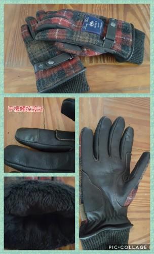 Honda CLASSIC 格紋織冬季手套