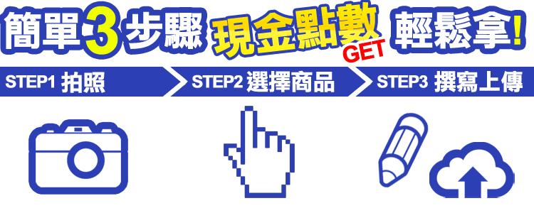 簡單3步驟,現金點數輕鬆拿!
