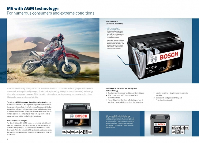 【BOSCH】AGM M6型機車啟動電池 RBT7B-BS - 「Webike-摩托百貨」