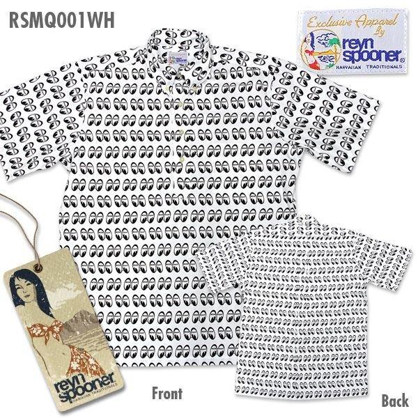【MOON EYES】Reyn Spooner 滿版LOGO 短袖襯衫 - 「Webike-摩托百貨」
