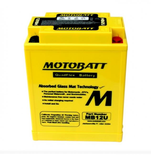 【MOTOBATT】閥控式強效級機車啟動電池-MB12U - 「Webike-摩托百貨」
