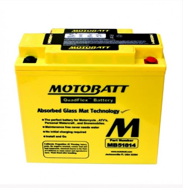 【MOTOBATT】閥控式強效級機車啟動電池-MB51814 - 「Webike-摩托百貨」
