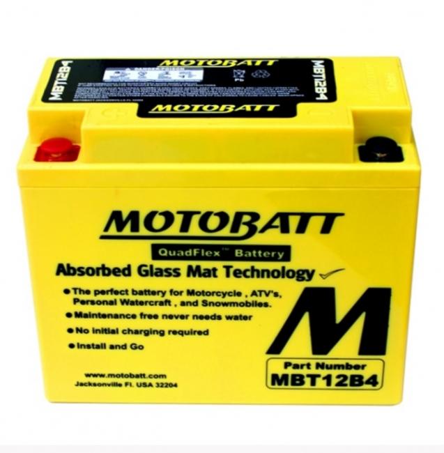 【MOTOBATT】閥控式強效級機車啟動電池-MBT12B4 - 「Webike-摩托百貨」