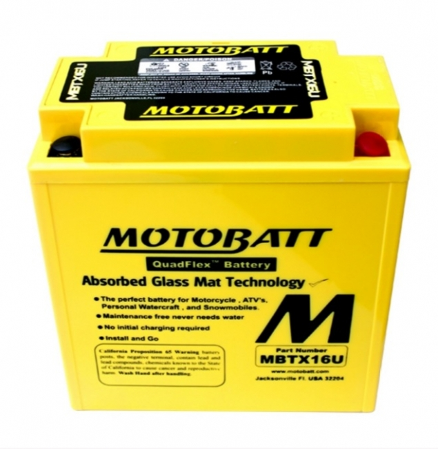 【MOTOBATT】閥控式強效級機車啟動電池-MBTX16U - 「Webike-摩托百貨」