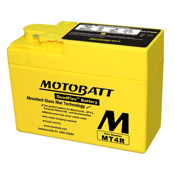 【MOTOBATT】閥控式強效級機車啟動電池-MT4R - 「Webike-摩托百貨」