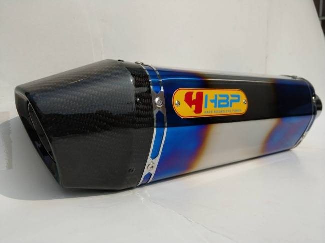 【H.B.P】KAWASAKI ZRX1200 H2 六角全段排氣管 (白鐵鈦色管身/碳纖維鯉魚嘴出口) - 「Webike-摩托百貨」