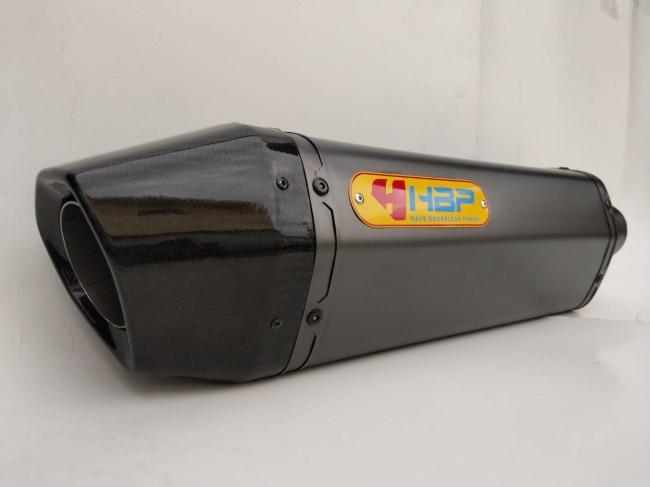 【H.B.P】KAWASAKI ZZR1200 H2 六角全段排氣管 (霧面黑鈦管身/碳纖維鯉魚嘴出口) - 「Webike-摩托百貨」