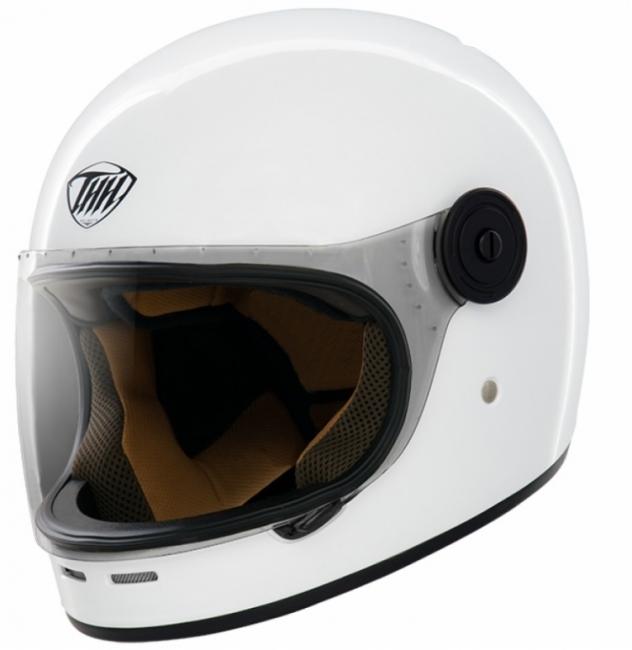 【THH】TT01 復古全罩式安全帽 (亮白) - 「Webike-摩托百貨」